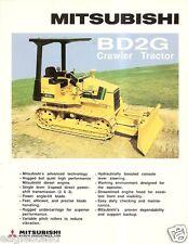 Equipment Brochure - Mitsubishi - BD2G - Crawler Tractor - c1988 (E2236)