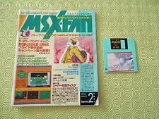 MSX FAN FEBRUARY 1993 / 02 REVUE FIRST ISSUE MAGAZINE JAPAN ORIGINAL!