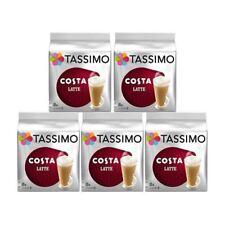 40 Tassimo Costa grandes con leche café T Discos Taza Grande vainas de tamaño (total de 5 paquetes)