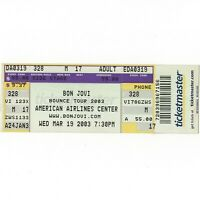 BON JOVI & GOO GOO DOLLS Concert Ticket Stub DALLAS TX 3/19/03 BOUNCE TOUR Rare