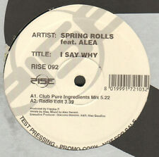 SPRING ROLLS - I Say Why - Rise