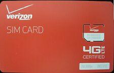 Verizon Wireless MICRO 4G LTE 3FF Sim Card (Samsung Galaxy s3, s4, s5)
