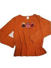 Vintage Gymboree Peruvian Doll orange best friends shirt girls size 9