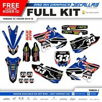 YAMAHA YZ 125 YZ 250 2015 2016 2017 2018 MX Graphics Decals Stickers Decallab