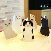 New Cute Standing Cat GREETING CARD DIY Birthday Valentines Gifts 2019
