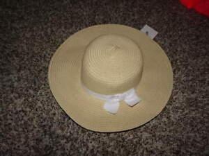 NEW NWT GYMBOREE DRESSED-UP 6-12 STRWA HAT W WHITE BOW