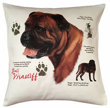 Bull Mastiff History Breed of Dog Cotton Cushion Cover - Perfect Gift