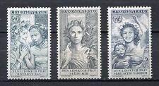 37073) CZECHOSLOVAKIA 1959 MNH** Human Rights 3v
