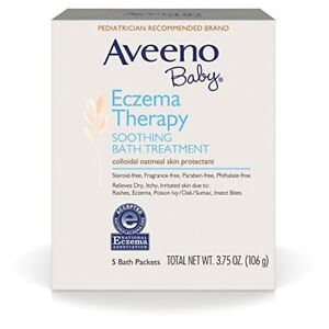 Aveeno Baby Eczema Therapy Soothing Bath Treatment, 5 Ct (2 Pack)