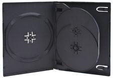 10 Triple Negro DVD Case con bandeja 14mm
