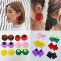 Candy Earrings Earrings Acrylic Stud Round Transparent Geometric Color Circle