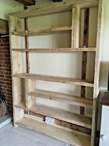Handmade Reclaimed Scaffold Board Bookcase Industrial Shelving Unit
