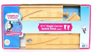 """Thomas & Friends Wooden Railway 61/2"""" Single Curved Switch Track Layout 99911"""