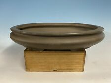 Lg. Bag Style Unglazed Tokoname Bonsai Tree Pot Made By Hekisui 18 1/4�