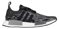 Adidas NMD R1 PK Primeknit BZ0223 Glitch Camo Core Black White Grey Men Women