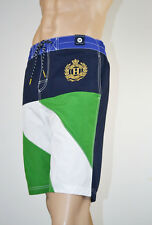 -Tommy Hilfiger Nautical Gold Crest Swim Short Trunks NWT -Size Medium