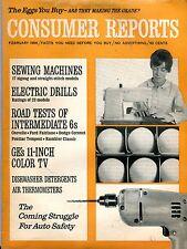 Consumer Reports Magazine February 1966 Sewing Machines VG No ML 090916jhe