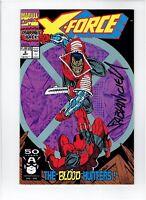 X-Force #2 2nd Appearance Deadpool Signed Fabian Nicieza Rob Liefeld Art