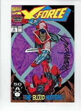 X-Force #2 2nd Appearance Deadpool Signed Fabian Nicieza Rob Liefeld Art