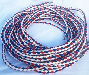 Motorcycle Bolo Cord Vest Motorbike Braided Red White Blue PU Vest Bolo Cord