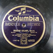 78rpm HAROLD LEONARD russian lullaby / LEO REISMAN leonora