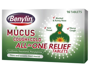 Benylin Mucus Cough & Cold All In One Relief Tablets - 16S Cold & Flu Relief