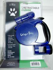 Unique Petz 3-in-1 Retractable Leash Blue With Light