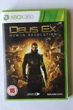 Deus Ex: Human Revolution-Microsoft Xbox 360, 2011With Case & Manual PAL Version