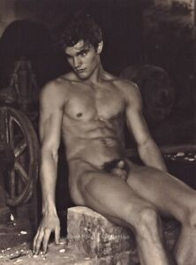 1990s Vintage BRUCE WEBER Male Nude Man Naked Body Model Photo Gravure Art 11X14