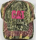 Caterpillar CAT Hat Cap Realtree Camo trimmed in Pink Woman's one size 2016