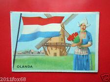 figurines cromos cards figurine sidam gli stati del mondo 77 olanda flags flag z