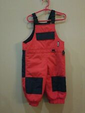 Boy's Toddler OBERMEYER Suspender Bib Snow Pant / 2T 2 / Black-red  / Waterproof