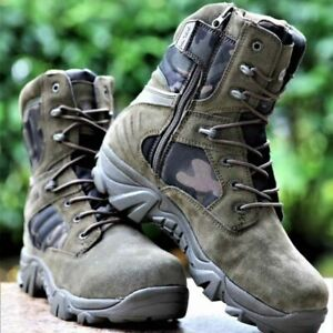 Army Combat Boots Military Men Hiking Shoes Breathable Tactical Desert Training