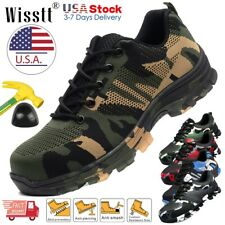Mens Safety Work Shoes Steel Toe Cap Boots Indestructible Breathable Sneakers US