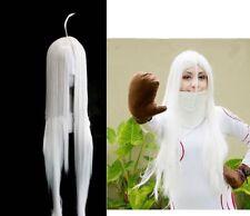 Deadman Wonderland Horror Anime Shiro Long Wig Hair Cosplay Costume Halloween