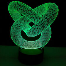3D Panel Acrylic USB 7 Color Changing Touch 10LED Night Light Halloween Lamp
