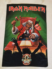 IRON MAIDEN THE FIRST TEN YEARS DESIGN FLAG FABRIC POSTER OFFICIALLY LICENSED