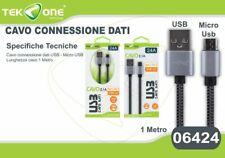 Cavo Dati Usb TeKone 24A Connettore Microusb Micro Usb 1MT Smartphone hsb