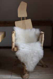 100% Natural British Sheepskin Rugs 95 - 130cm super Soft small Medium Large XL