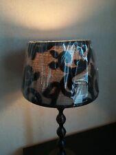 Lampenschirm  ∅ 15-20cm , H: 13cm  beige + schwarz  Ausstellungsware !!