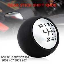 6 Speed Gear Stick Shift Knob For Peugeot 307 308 3008 5008 807 B9 Citroen C3 C4
