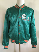 Vintage Chalk Line Miami Dolphins Satin Jacket 1990's NFL Men Size XXL 2XL