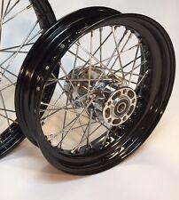 Wheel Rebuild Service 16 X 3 Black Wheel, Harley Sportster, Dyna, Softail