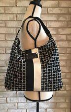 KATE SPADE Purse Classic Noel Small Flat Serena Hobo Shoulder Bag Black & White