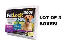 3 Packs PetLock Plus For Dogs 45 To 88 Lbs Kill Flea Egg Larvae & Lice 3 Doses