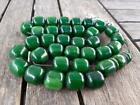 Natural Green Amber Faturan Misbaha Tesbih Rosary Prayer Beads Islamic Tasbih