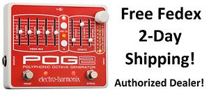 New Electro-Harmonix EHX POG 2 Polyphonic Octave Generator Effects Pedal