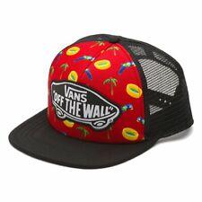 Vans Off The Wall Women's Beach Girl Trucker Hat Cap - Parrot/Palm/Red/Black