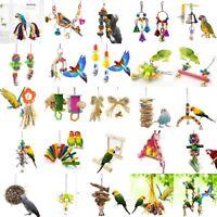 30 Models Parrot Hanging Chew Wooden Bite Toys Swing Cockatiel Parakeet Bird&Toy