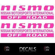 (2) Pink NISMO OFF ROAD Decals Stickers Nissan Titan Frontier Pathfinder Custom